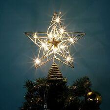 Christmas Tree Toppe, 10 Inch 15 LED Xmas Star Tree Ornament Decoration