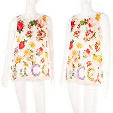 Vintage Gucci Tom Ford Silk Floral Printed Top