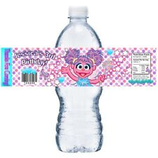 10 ABBY CADABBY PERSONALIZED BIRTHDAY PARTY FAVORS WATER BOTTLE LABELS WRAPPERS