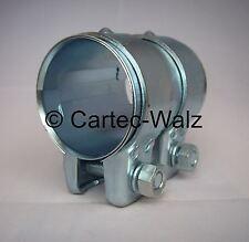 Conector del tubo de escape/Abrazadera doble 48 x 125 mm para por ejemplo: