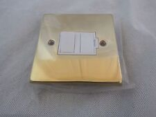 13 AMP Victorian BRASS SPUR SWITCHED & FUSED WITH WHITE INSERTS