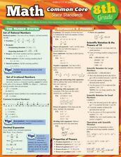 Math Common Core 8Th Grade (Quick Study Academic) Book By Inc BarCharts Paperbac