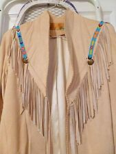 Char and Sher Vintage Beaded Deerskin Jacket - Size 6, fits like a size 4