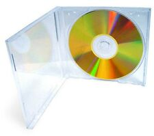 100 New Clear  Single Standard CD DVD Jewel Case 10.2mm by UPS ground