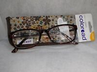 NEW FOSTER GRANT Coloread READING GLASSES +2.00 With Case