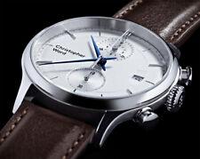 Christopher Ward C3 Malvern Chronograph Mk III White Dial Brown Leather Watch