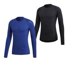 Adidas Alphaskin Long Sleeve Compression Tee Fitness Running Thermal Base Layer