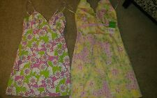 Two Womens vintage lilly pulitzer  dresses size 6 one nwt the other preowned