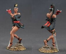 Tin toy soldiers  painted 54 mm japanese girl with mask