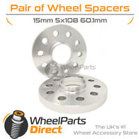Wheel Spacers (2) 5x108 60.1 15mm for Renault Kangoo (5 Stud) [Mk2] 08-20