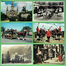 #D272. SIX  HORSE   RELATED THEME   POSTCARDS