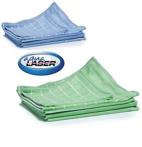 AQUA LASER DIAMANT BAMBUS Mikrofaser Glas- und Fenstertücher Poliertuch 6er Set