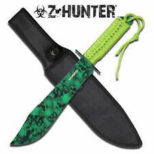 Z-Hunter Green Skulls Fixed Blade Knife Zombie Series