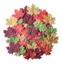 NEW 100 Mixed Artificial  Autumn Maple Leaves Silk Fall Wedding Home Leaf Decor