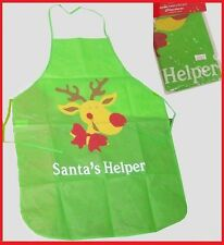 Santa's Helper GREEN APRON Christmas MASTER CHEF Festive Cooking Party Gift