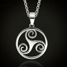 Triskele Stainless Steel Pendant Necklace, Triskelion, Celtic Jewelry
