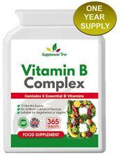 Vitamine B Complexe (365 Comprimés) avec B1, B2, B3, B5, B6, B12, Biotine,