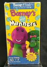 Barney's Best Manners VHS Tape Sing Along 90s Rare