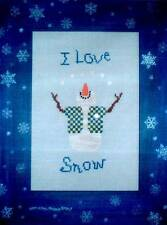One More Stitch HERBIE, THE SNOW DODE Cross Stitch Chart Only ~ snowman/winter