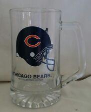 Chicago Bears NFL Jumbo Glass Beer Stein Mug 1991 Slim Jim Collectors Ed.