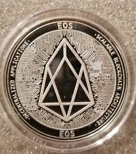 EOS 1 oz .999 silver commemorative coin crypto currency bitcoin btc blockchain