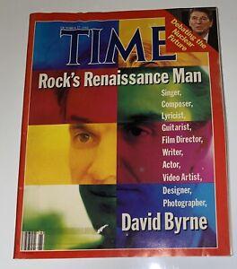 Time Magazine October 27, 1986 David Byrne, Rock's Renaissance Man Talking Heads