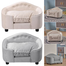 Velvet Large Pet Dog Cat Sofa Chair House Bed Warm Cushion Lounge Pets Couch Bed