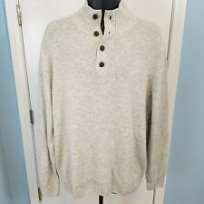 Dickies Men's Solid Jersey Button Mock Sweater Size XL