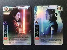 Star Wars Destiny - 1X Alt Art FOIL REY/KYLO REN - BOUND BY THE FORCE (V2)