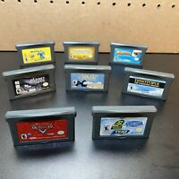 8 Game Lot-NINTENDO GAMEBOY ADVANCE SP GBA-Cars,Dinotopia,Planet Of The Apes,