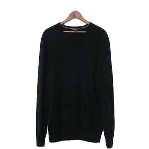 Gap Men's Extra Fine Merino Wool Black CrewNeck Sweater Size Large L