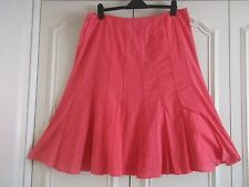 PER UNA HOT PINK CRINKLE PATTERN SWING SKIRT SIZE 16