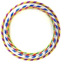 MULTICOLOUR CHILDREN ADULT HULA HOOP DURABLE PLASTIC OUTDOOR INDOOR FITNESS