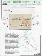 1825 Stampless Cover Sent by Packet Service fr Larne, Ireland to London, England