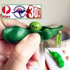 Anti Stress Relief Fidget Squeeze Bean Squishy Toy Pendant Key ring Pokebean