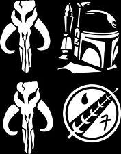 Star Wars (4 Pack) Mandolorean Pack Logo Vinyl Decal Sticker Bumper Window