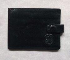 Wallet Vintage Leather BI-FOLD CARDS ID 1980s 1990s BLACK RETRO