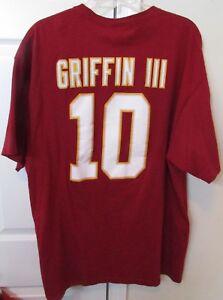 NFL Washington Redskins #10 Robert Griffin III RG3 Shirt 2XL EUC