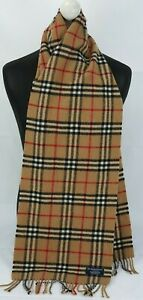 BURBERRY SCARF 100% LAMBSWOOL LONG MADE IN ENGLAND BEIGE