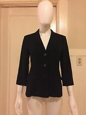 MAX MARA simple black suit jacket blazer coat lightweight office maxmara italy 6