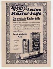 "4711-Reklame-Rasierseife-Art Deco - Druck aus ""Der Junggeselle"" 1921 Rasur-Seife"