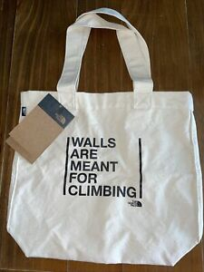 NEW The North Face Tote Bag TNF WALLS ARE MESNT FOR CLIMBING