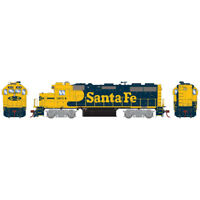 Athearrn ATHG65604 Santa Fe #3614 Locomotive GP39-2 w/ DCC & Sound HO Scale