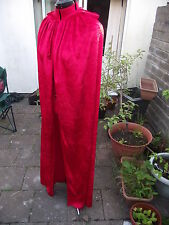 red fancy dress cloak with hood    crushed velvet