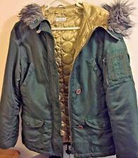 MISS SELFRIDGE: size 8, khaki green, hooded jacket