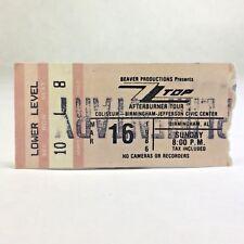Zz Top Concert Ticket Stub Afterburner Tour 1986 Bjcc Birmingham Alabama