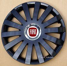 "Black 15"" wheel trims, Hub Caps, Covers to fit Fiat Punto,Stilo (Quantity 4)"