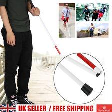 Aluminium Cane Blind White Visually Impaired Walking Stick Easy Folding Crutch