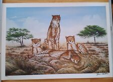 """ Cheetahs ""  Signed by the Artist Jim Collins     Limited Edition of 1200"