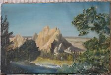 Powerful American Landscape-1930's-River By Rocks-Signed-Bocian-Great Quality